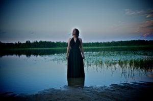 Dress in Lake photo