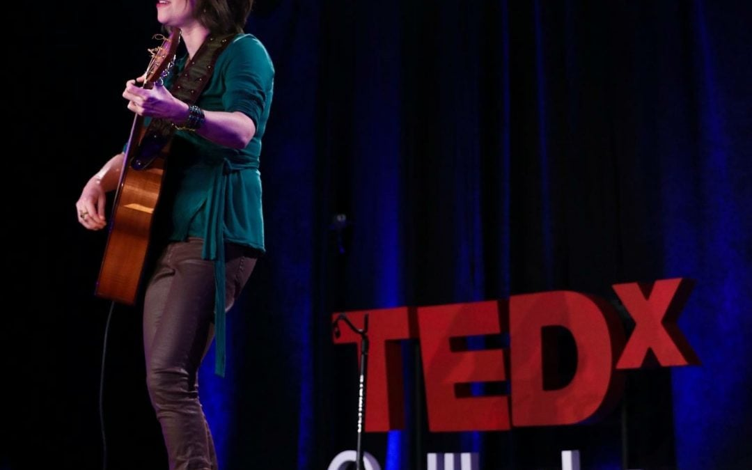 Elisa Korenne presents at TEDx Gull Lake 2017